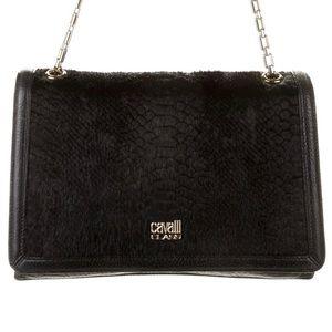 💕 CAVALLI CLASS Roberto Cavalli black leather bag